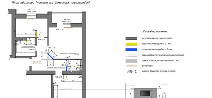 План демонтажа и монтажа в дизайн-проекте