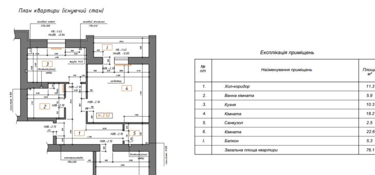 План обмера в дизайн-проекте