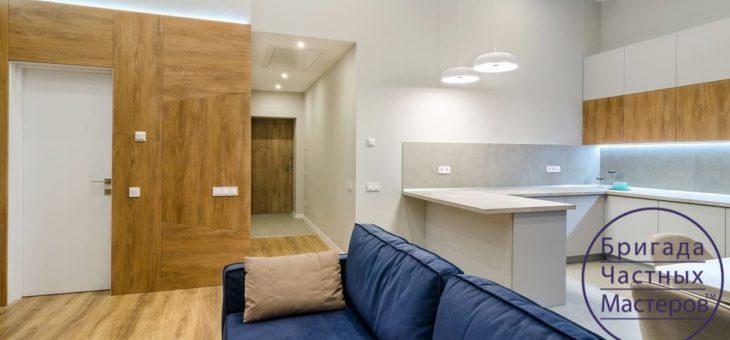 Дизайнерский ремонт двухкомнатной квартиры на Пушкина в Сумах