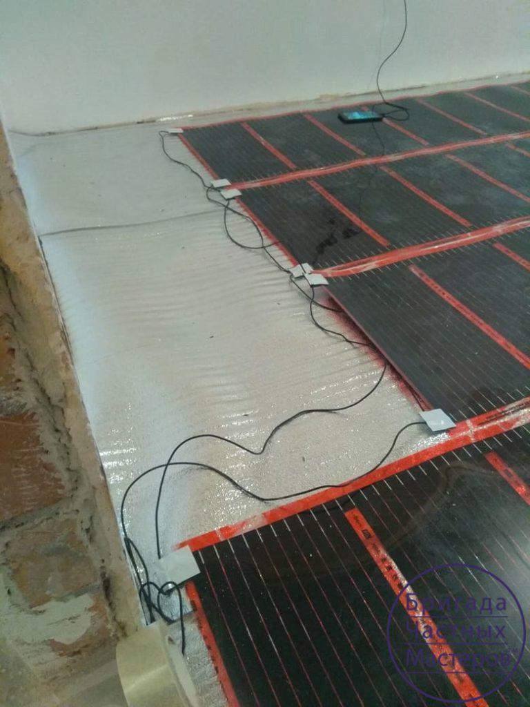 Укладка теплого пола и паркетной доски в Сумах 4