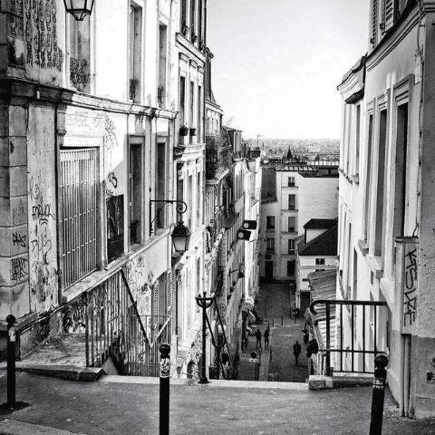 Черно-белые фотообои. Город