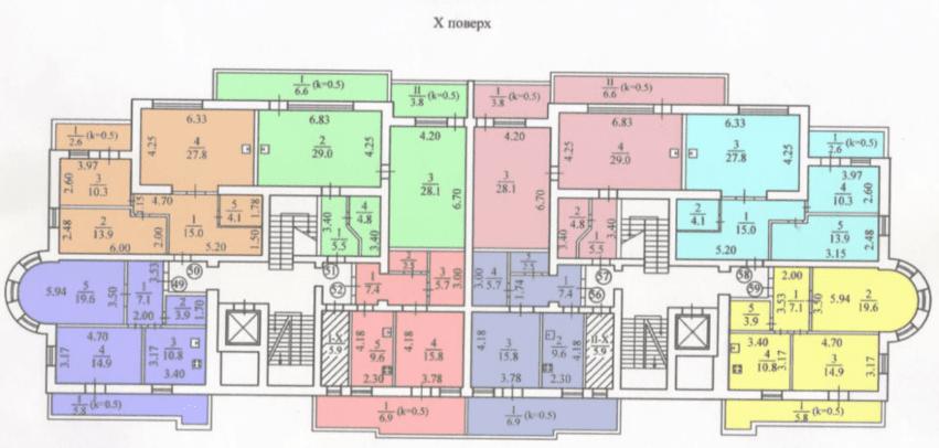 План реконструкции 10-го этажа