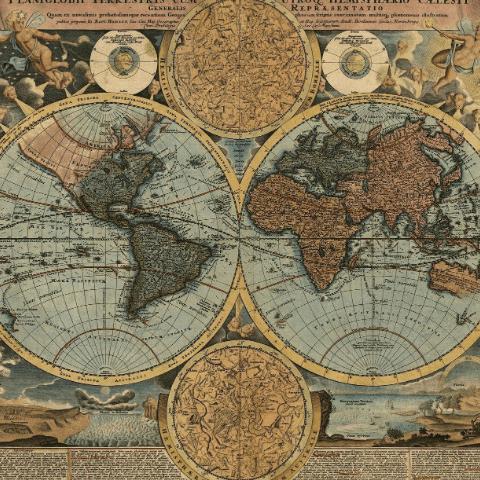 Фотообои Карты. Старинная