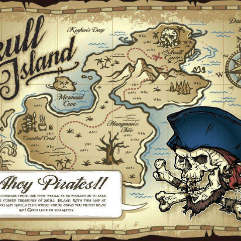 Фотообои Карты. Пират