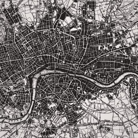 Фотообои Карты. Черно-белая