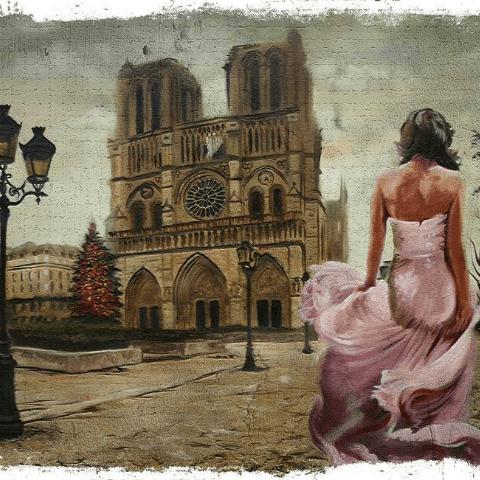 Фотообои искусство и живопись. Девушка