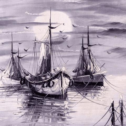 Фотообои исскуство и живопись. Лодки
