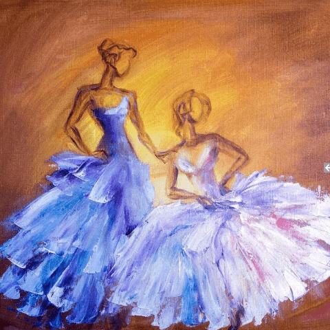 Фотообои искусство и живопись. Балерины