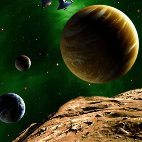 Фотообои Космос. Парад планет